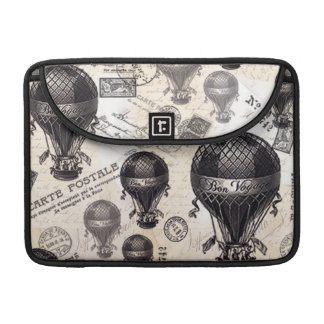 modern vintage French hot air balloons MacBook Pro Sleeve