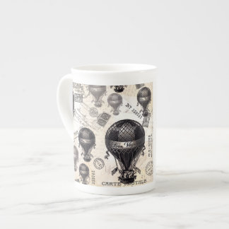 modern vintage French hot air balloons Tea Cup