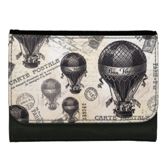 modern vintage French hot air balloons Women's Wallets