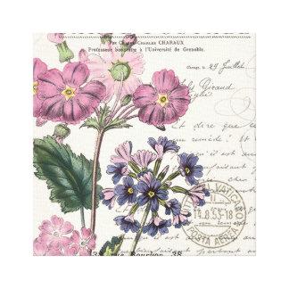 modern vintage french lavender floral canvas print