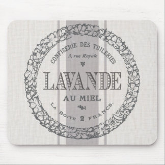 modern vintage French Lavender grain sac Mouse Pad