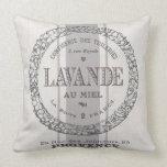 modern vintage French Lavender grain sac Throw Pillow