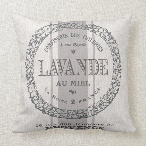 Modern Vintage Pillows : modern vintage French Lavender grain sac Throw Pillows Zazzle