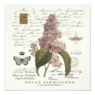 modern vintage French Lilacs Card
