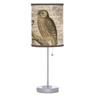 Modern Vintage French Owl Table Lamp