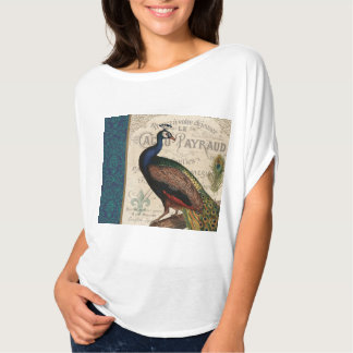 modern vintage french peacock T-Shirt