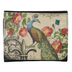 modern vintage French peacock wallet at Zazzle