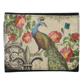 modern vintage French peacock wallet