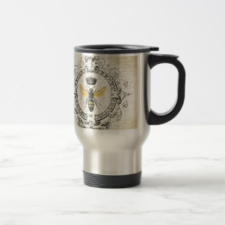MODERN VINTAGE french queen bee 15 Oz Stainless Steel Travel Mug
