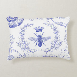 modern vintage french queen bee accent pillow