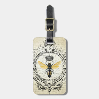 modern vintage french queen bee bag tag