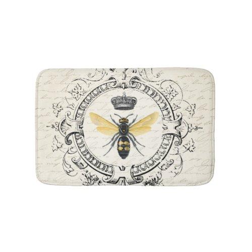 MODERN VINTAGE french queen bee Bathroom Mat