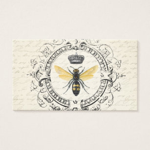 French business cards templates zazzle modern vintage french queen bee business card reheart Gallery