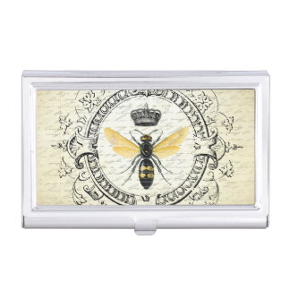 Modern vintage french queen bee business card holder