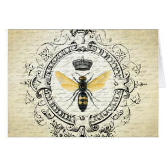 modern vintage french queen bee card