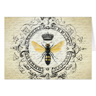 Modern vintage french queen bee stationery note card