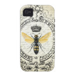 MODERN VINTAGE french queen bee Case-Mate iPhone 4 Covers