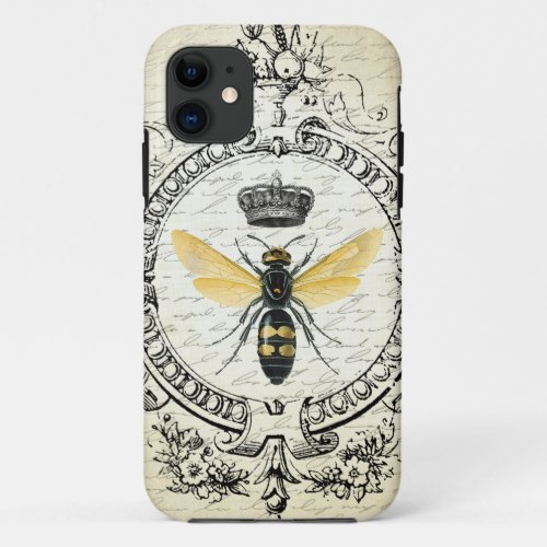 Modern vintage french queen bee Phone Case