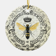 Modern Vintage French Queen Bee Ceramic Ornament at Zazzle