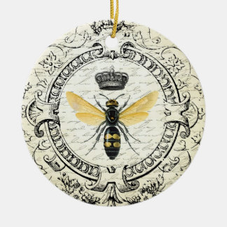 Modern vintage french queen bee ceramic ornament