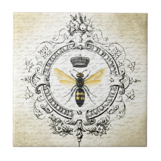 MODERN VINTAGE french queen bee Ceramic Tile