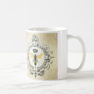 Modern vintage french queen bee classic white coffee mug