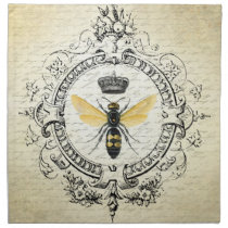 modern vintage french queen bee cloth napkin