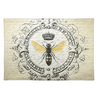 modern vintage french queen bee cloth placemat