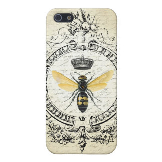 Modern vintage french queen bee cover for iPhone SE/5/5s