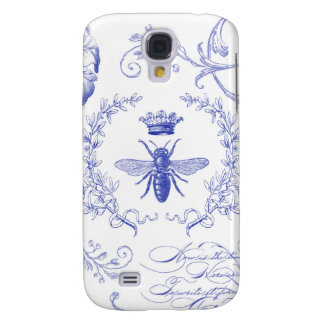 modern vintage french queen bee galaxy s4 cover