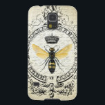 "modern vintage french queen bee galaxy s5 cover<br><div class=""desc"">modern vintage french queen bee</div>"