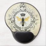 """Modern vintage french queen bee gel mouse pad<br><div class=""""desc"""">Modern vintage french queen bee</div>"""