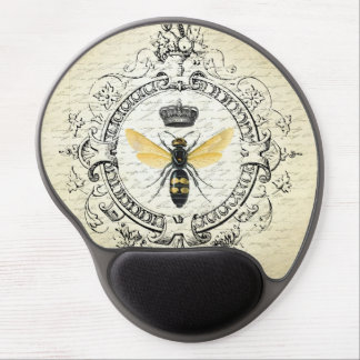 Modern vintage french queen bee gel mouse pad