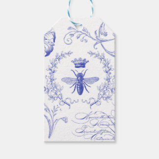 modern vintage french queen bee gift tags