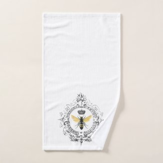 MODERN VINTAGE french queen bee Hand Towel