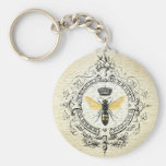 MODERN VINTAGE french queen bee Keychain