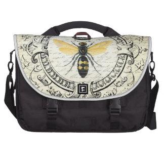 modern vintage french queen bee laptop messenger bag