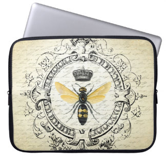 Modern vintage french queen bee laptop computer sleeves