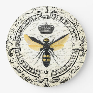 modern vintage french queen bee large clock