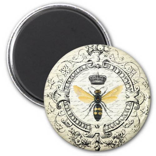 Modern vintage french queen bee magnet