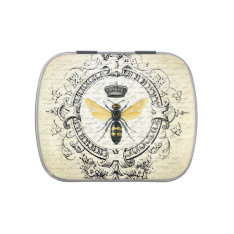 modern vintage French Queen Bee mint tin can Jelly Belly Candy Tin at Zazzle