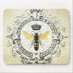 "Modern vintage french queen bee mouse pad<br><div class=""desc"">Modern vintage french queen bee</div>"