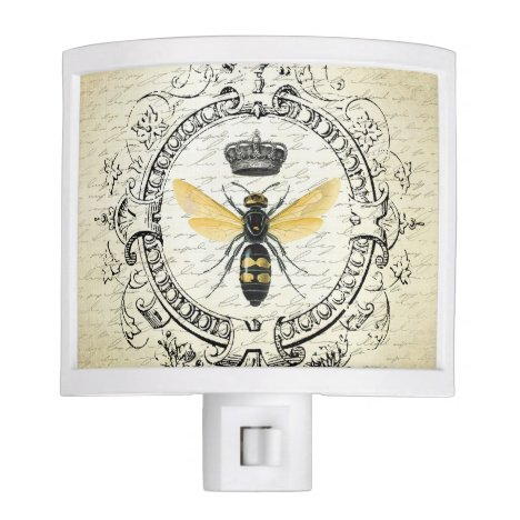 modern vintage french queen bee night light