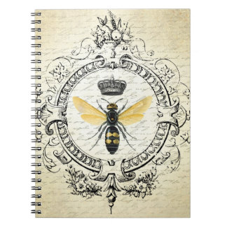 Modern vintage french queen bee notebook