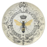 Modern vintage french queen bee party plate