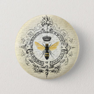 MODERN VINTAGE french queen bee Pinback Button