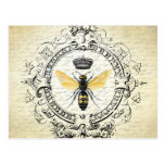modern vintage french queen bee postcards