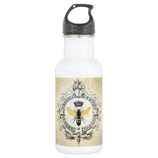 modern vintage french queen bee stainless steel water bottle