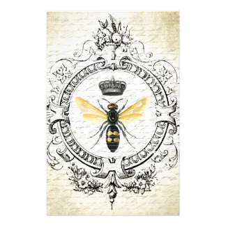 MODERN VINTAGE french queen bee Stationery