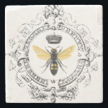 "MODERN VINTAGE french queen bee Stone Coaster<br><div class=""desc"">MODERN VINTAGE french queen bee</div>"